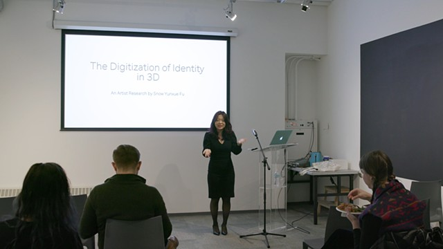 Digitization of Identity in 3D Lecture by Snow Yunxue Fu with SAIC Global Encounter Series @ the Sullivan Gallery