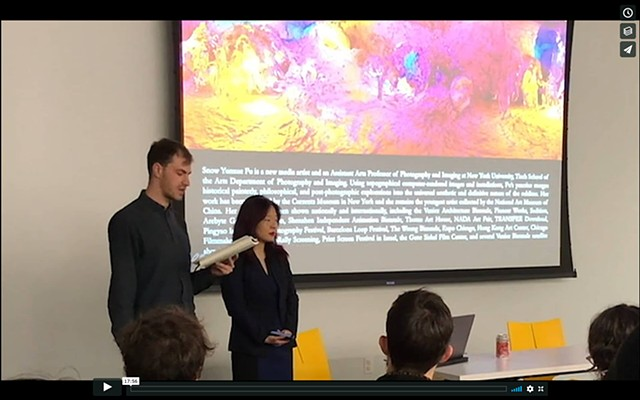 Snow Yunxue Fu Artist Talk at the University of Chicago's MADD Center on her VR Artworks
