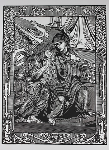 The Annunciation of Gabriel to Our Lady The Theotokos