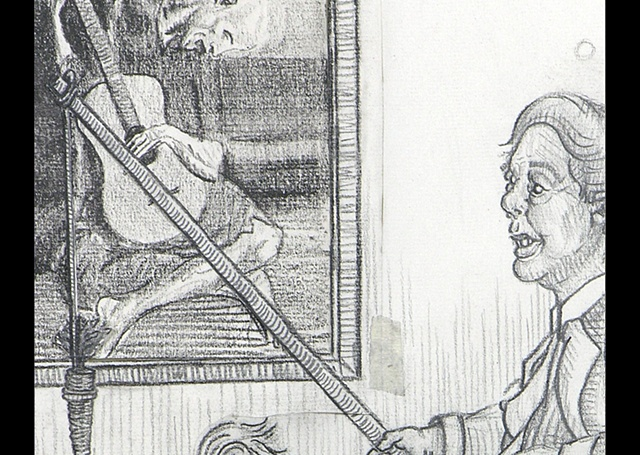 """Depiction of self in sickness and in health."" (Detail)"