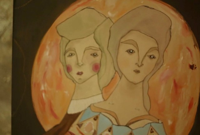 """Screen-grab of my painting """"Simon and Magdalena - Keepers of Faith and Kindred Throughts"""""""