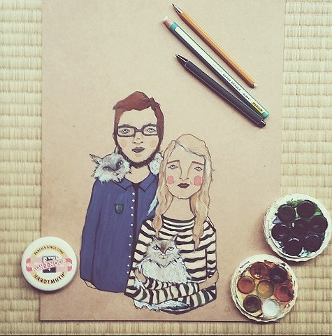 Finishing off a commission for a gorgeous Australian couple