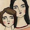 Emma & Laura Double Portrait (Inspired by my original Big Sister, Little Sister painting)