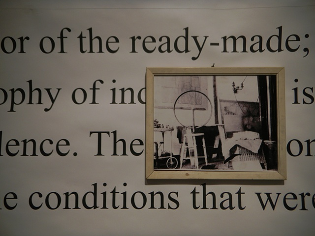 Detail of After Kosuth