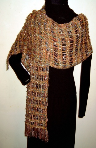 golden lace stole