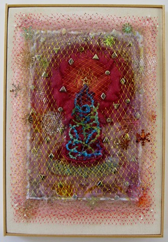 fiber art, embroidery, Beading