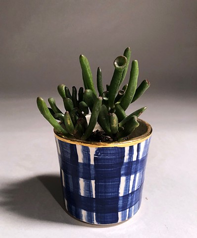 Plaid Planter