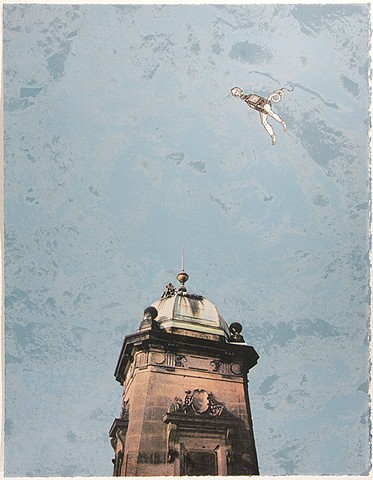 Flying Figure with Tower