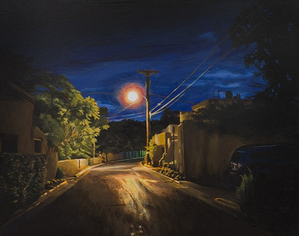 Nocturne of Canyon Road in Santa Fe