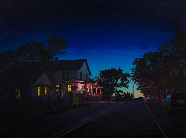 Acrylic Nocturne of Madrid,New Mexico