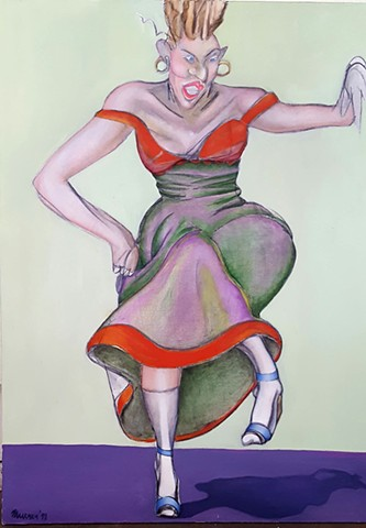 Oil Painting of Dancing Woman by artist Lori Markman