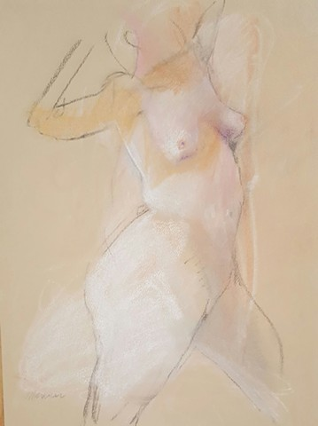 pastel female nude drawing by artist Lori Markman