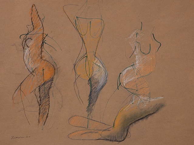 art drawing ink pastel sketch figureative figure nude female gesture modern contemporary