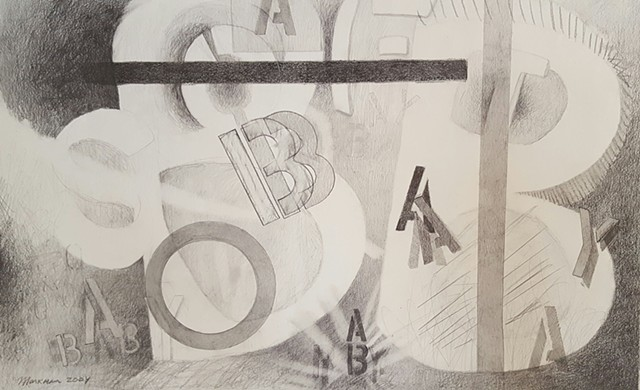 abstract pencil drawing by artist Lori Markman