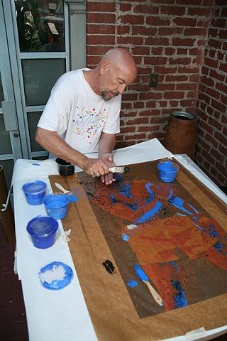 DAVID WILLARDSON_ARTIST AT WORK