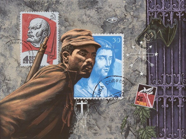 Saints, Sinner and Espiritism, Cuba, Klauba, George Klauba, Santeria, Castro, Revolution, Chicago, Painting,