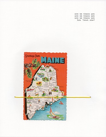 typography, found object, vintage postcard, americana