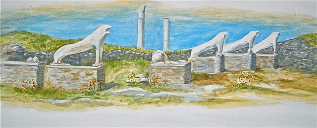 Avenue of Lions; Delos