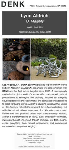 SOLO EXHIBITION, DENK GALLERY, LOS ANGELES