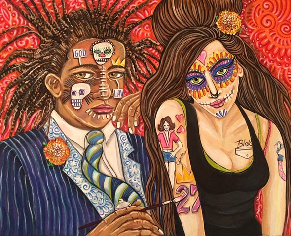 27 Club - Table for Two, Basquiat & Winehouse