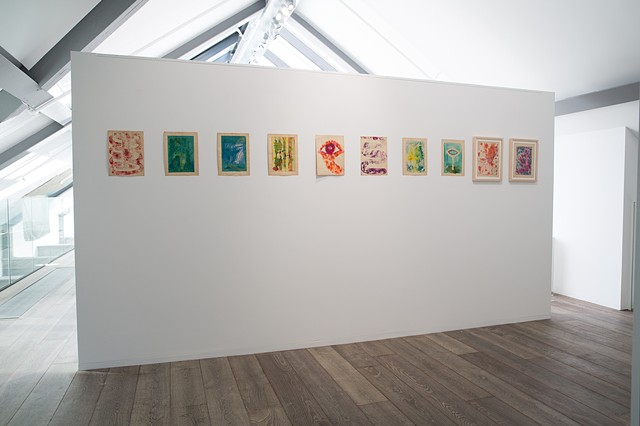Installation view of Drawings from Past for Future at Hangar H18, Brussels, Belgium