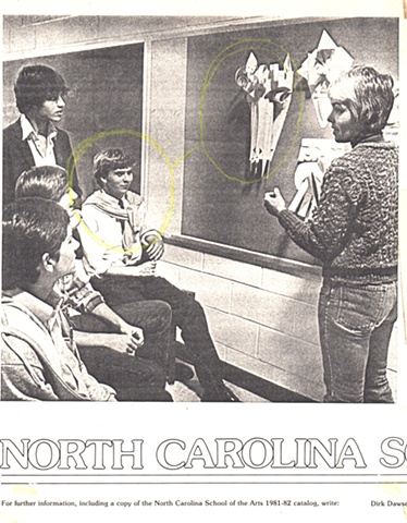 Promotional poster for North Carolina School of the Arts featuring Louis St.Lewis