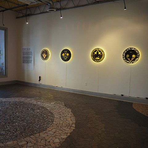 Portals installation view at Irma Freeman Center for Imagination