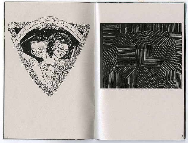 Other Worlds is a zine of queer visions of the future. Image (left) by Maybe J. Sadeghi and image (right) by Nic Jenkins.