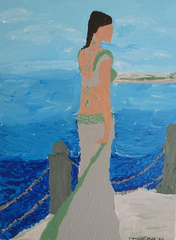 SAREE & BLUE SEA