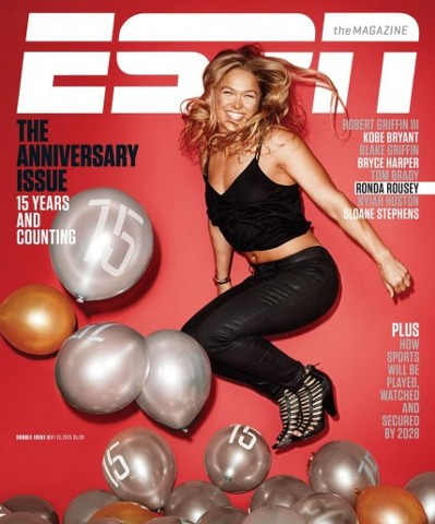 Ronda Rousey ESPN 15th Anniversary Issue
