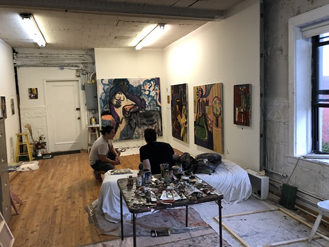 Eric Studio Visit With Coy
