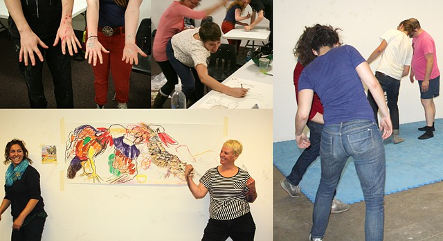 Collaborative Combative Drawing & Two Person Power Drawing - for conferences and the classroom 2011 - Present