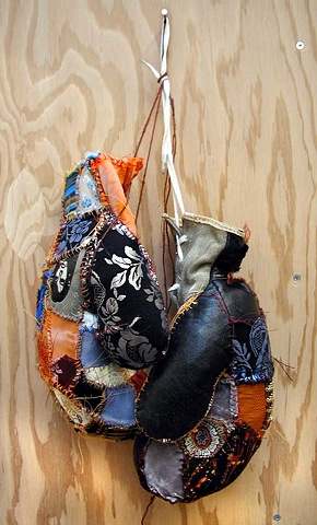 Patchwork Boxing Gloves