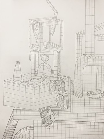 Drawing 100: Cross Contour Still Life, University of Wisconsin-Stout