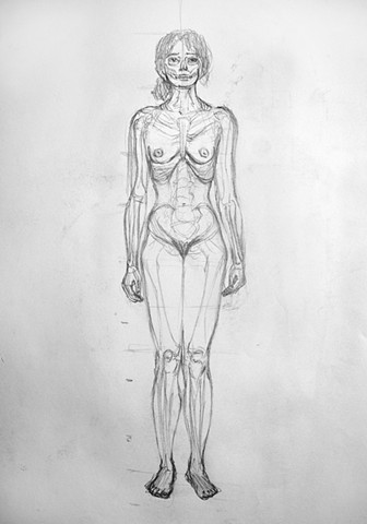 DRAWING II: Anatomy and Proportion (Skeleton within the Figure)