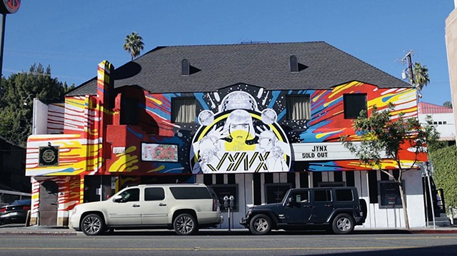 JYNX Debut Mural, Roxy Theatre, West Hollywood, CA