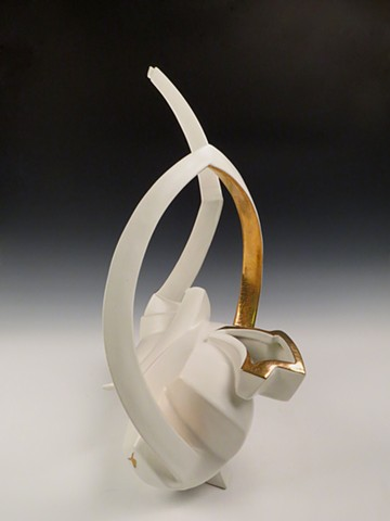 White/Gold Ewer