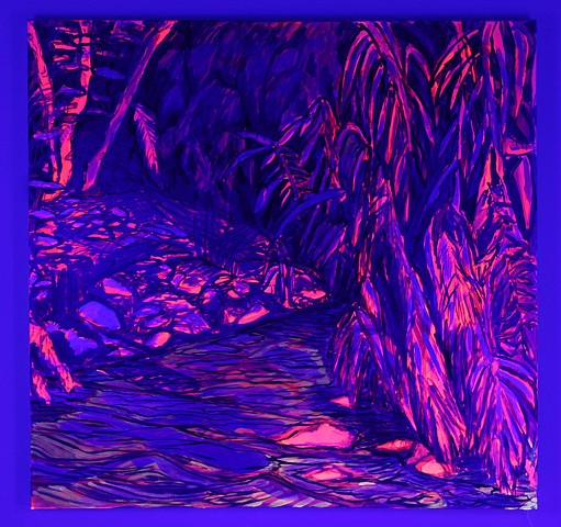 River Ripple (black light view)