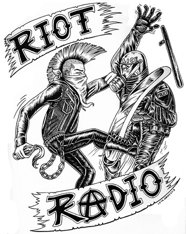 riot radio, leta gray, punk rock, cop fight, punks vs cops, punk rock rules