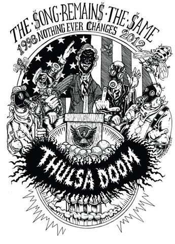 Thulsa Doom, Punk Rock, Classic Punk, the casualties, Exploited, riot grrl, chick punk, subhumans, political art, Thulsa, Doom, 90's punk