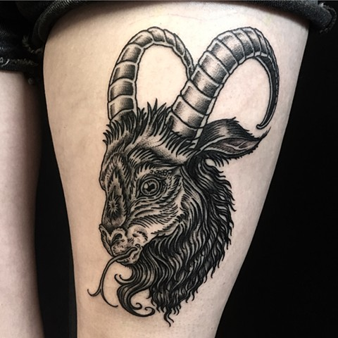 goat tattoo evil black phillip occult witch magic the devil lucifer