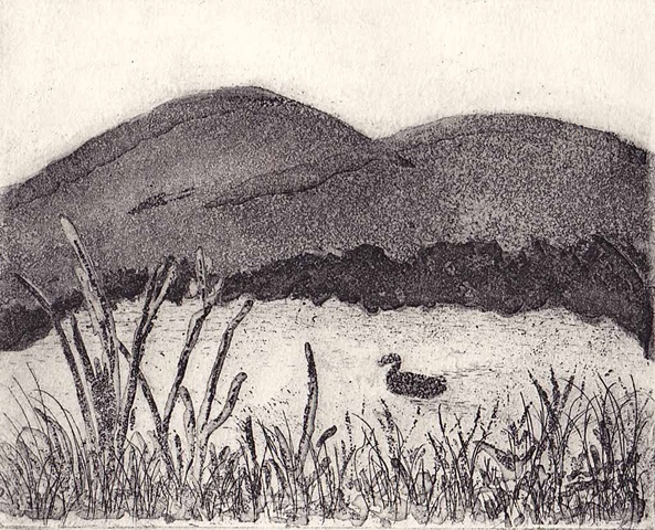 Margaret Merritt, Granite Pond, Copper Plate Etching