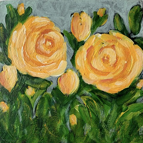 Yellow rose painting by Tracy yarbrough
