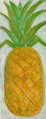 Pineapple painting by tract yarbrough