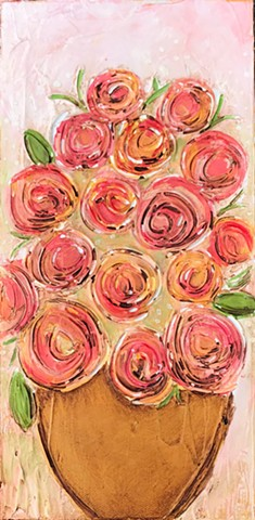 Bitty Blooms Rose painting by Tracy yarbrough