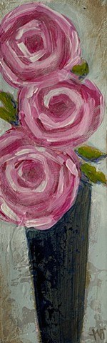 Pink roses painting by Tracy yarbrough