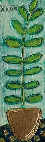 Bitty Blooms Grow plant painting by Tracy yarbrough