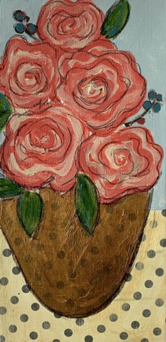 Pink rose painting by Tracy yarbrough