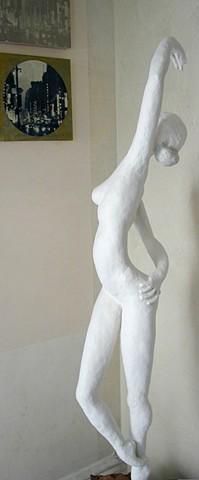 "Corner ""Dancer"" Sculpture for staircase"