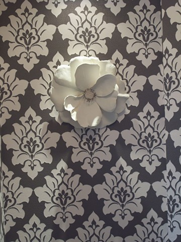 porcelin wall flowers for Dierdre Donnely
